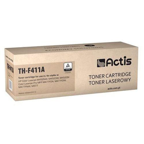Toner Actis TH-F411A (do drukarki Hewlett Packard, zamiennik 410A CF411A standard 6500str. czarny Chip)