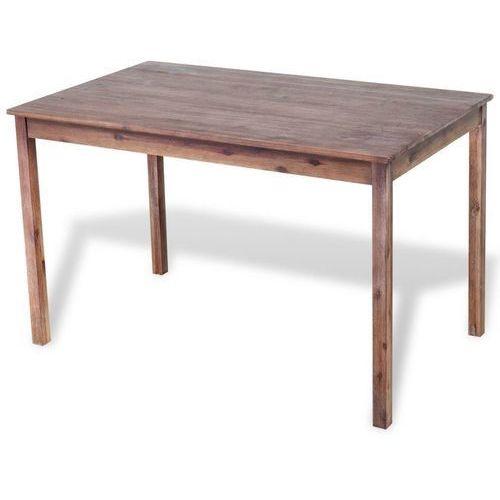 Stół z drewna akacjowego do jadalni 120x70x75 cm