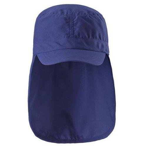 Czapka przeciwsłoneczna UV 50+ Reima ALOHA osłona karku granat (navy), kolor niebieski