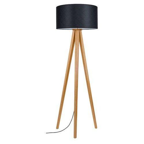 mirabella 6726174 lampa podłogowa stojąca 1x60w e27 czarny / dąb marki Spot light
