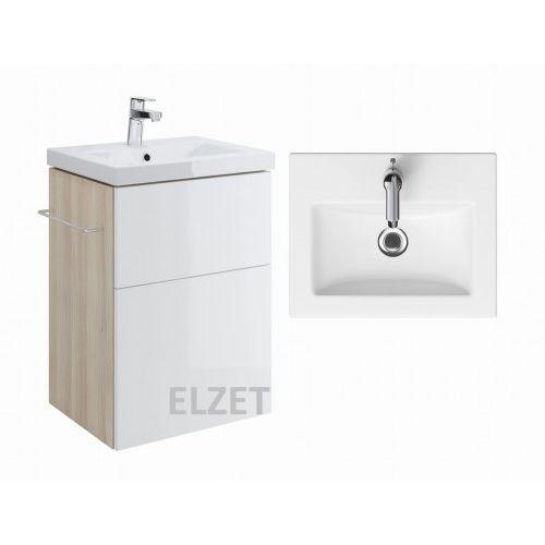 szafka smart jasny jesion/biała + umywalka como 50 s568-016+k32-002 marki Cersanit
