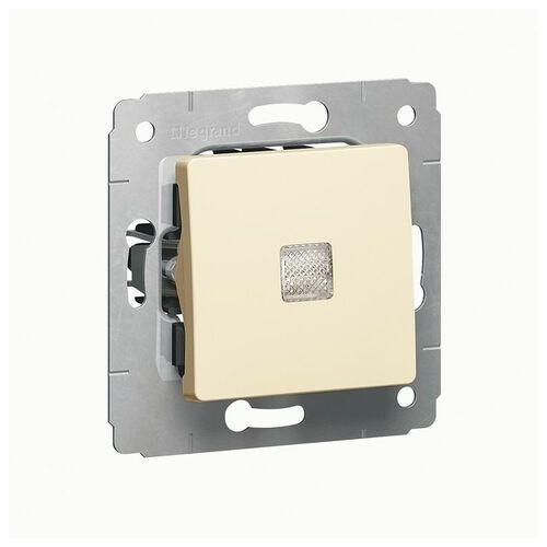 Legrand cariva przycisk pojedynczy dzwonek z podświetleniem krem 773713