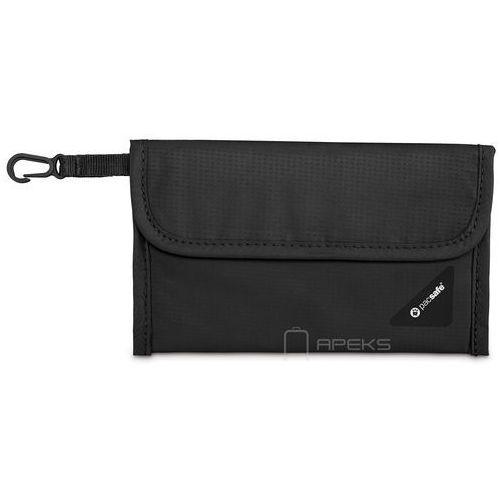 Pacsafe coversafe v50 portfel damski / męski / czarny - black