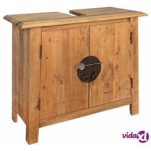 vidaXL Szafka łazienkowa pod umywalkę, drewno sosnowe, 70x32x63 cm