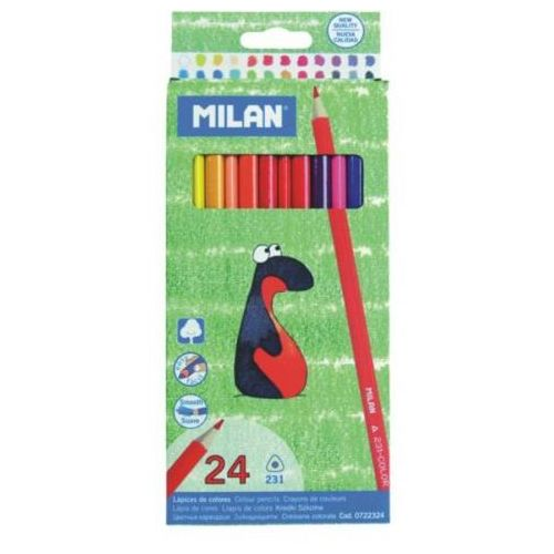 Milan Kredki ołówkowe trójkatne 24 kolory