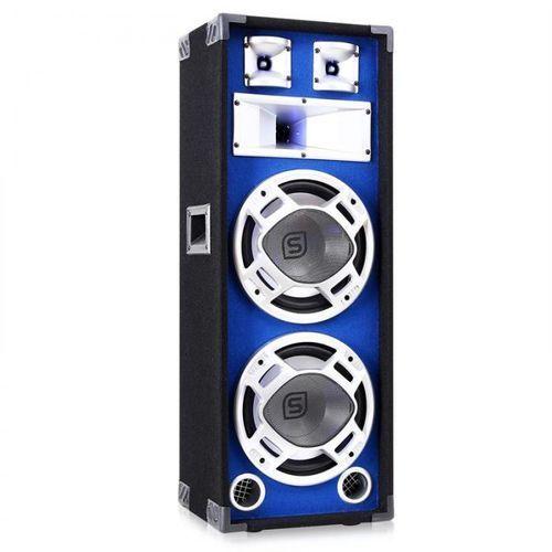 Kolumna pa 2 x 25 cm 800 w niebieska efekt świetlny marki Skytec