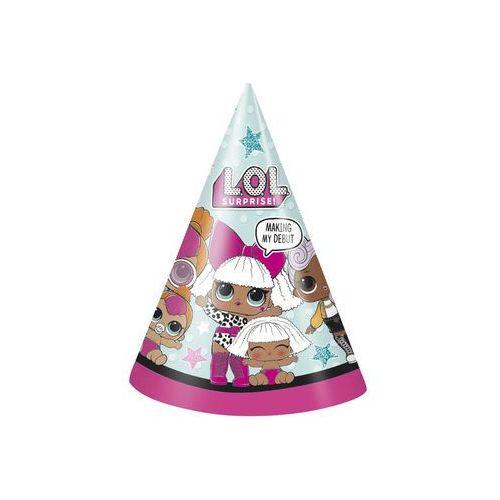 Czapeczki urodzinowe LOL Surprise - 8 szt. (0011179791217)