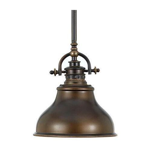 Elstead Lampa wisząca emery industrialna brąz Ø 20,3 cm (5024005307808)