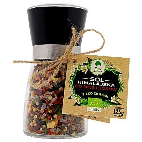 Dary natury - przyprawy i zioła bio Sól himalajska w młynku z ziołami bio do mięs i sosów 125 g - dary natury