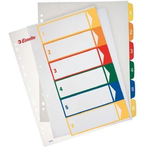 Przekładki 1-6 do nadruku tekstu na kartę plastikowe ESSELTE numeryczne - X02735, NB-5503