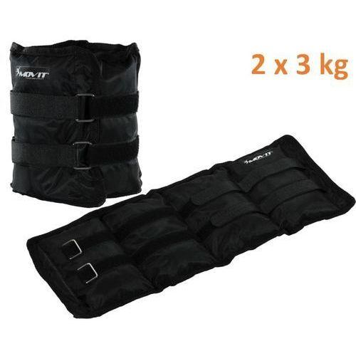 Movit Obciążniki na ręce i nogi do ćwiczeń 2 x 3 kg czarne