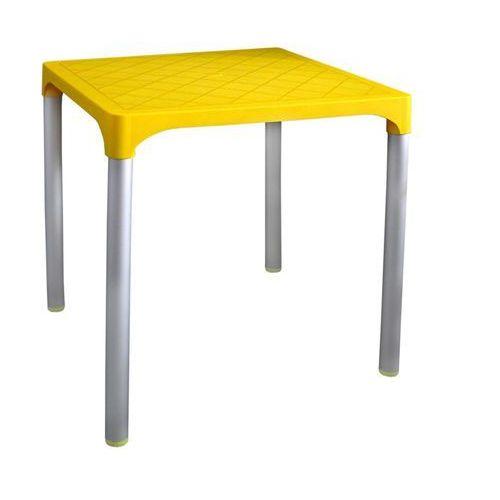 stół mp1351 viva, żółty marki Mega plast