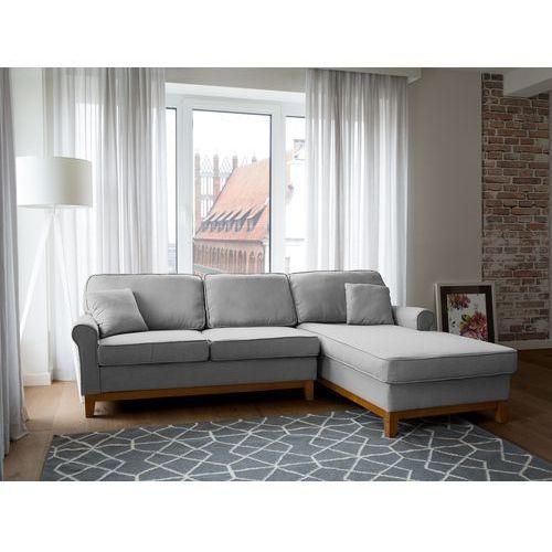 Beliani Narożnik jasnoszary - kanapa - sofa - narożna - wypoczynek - nexo (7105272383882)