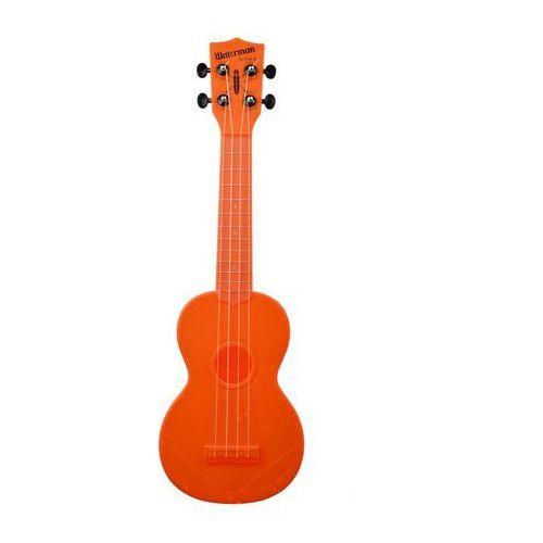 Kala ka-swf-or waterman, ukulele sopranowe z pokrowcem, fluorescencyjny pomarańczowy