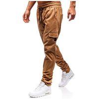 Spodnie bojówki męskie camelowe 0857 marki Bolf