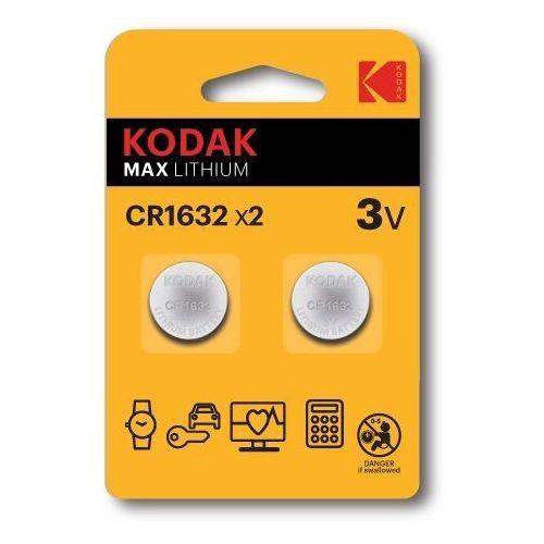 KODAK BATERIE LITOWE CR 1632 BLISTER X 2 SZT. - 30417700- Zamów do 16:00, wysyłka kurierem tego samego dnia!