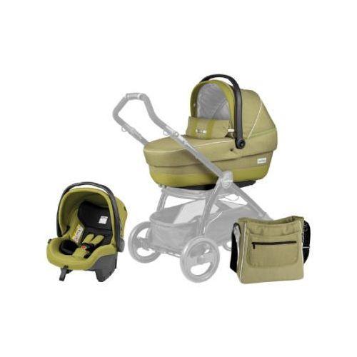 Peg-perego gondolka+fotelik samochodowy+ torba na akcesoria do przewijania xl green tea (8005475358634)