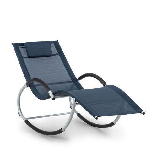 westwood leżak bujany, ergonomiczny, aluminium, ciemnoniebieski marki Blumfeldt