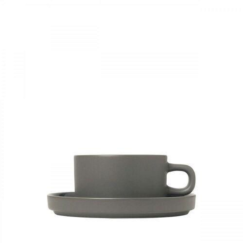 Zestaw 2 kubków do herbaty z podstawkami, mio, pew marki Blomus