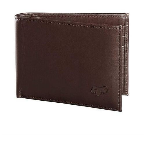 Fox Portfel - bifold leather wallet brn (081)