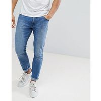 Burton menswear skinny denim in light blue wash - blue