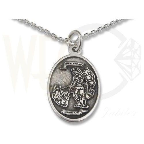 Medalik owalny ze srebra z Świętym Florianem, WEC-S-MED-FLORIAN-2 ()
