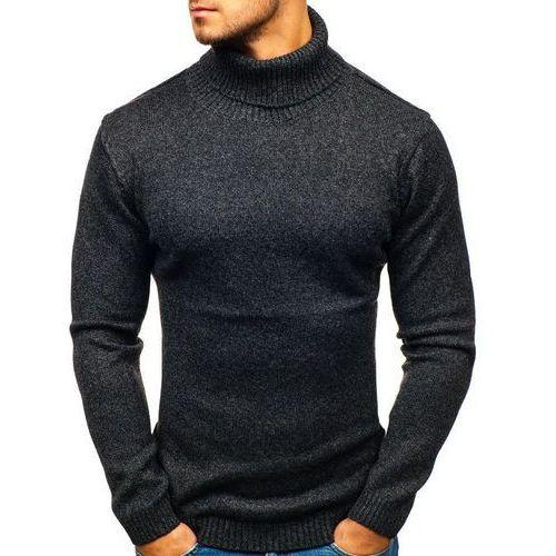 Sweter męski golf czarny Denley H1800