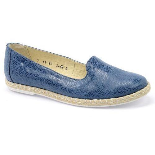 Półbuty Lesta 4193 niebieski, kolor niebieski