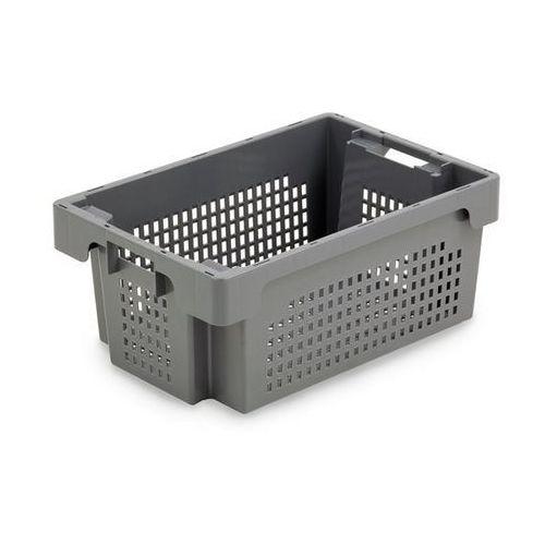 Werit kunststoffwerke Obrotowy pojemnik do ustawiania w stos z hdpe, poj. 32 l, ścianki i dno perforow