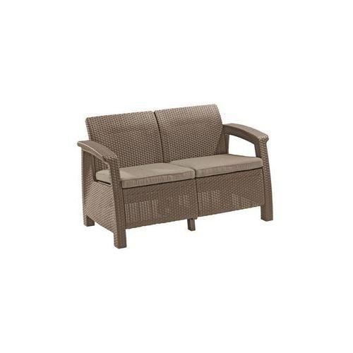 Sofa CORFU LOVE SEAT - cappuccino, OM-CURVER/SOFA_2_CORFU_LOVE-CAPP-PIAS