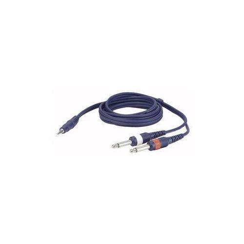 Kabel Audio Mini Jack stereo – 2 x mono Jack