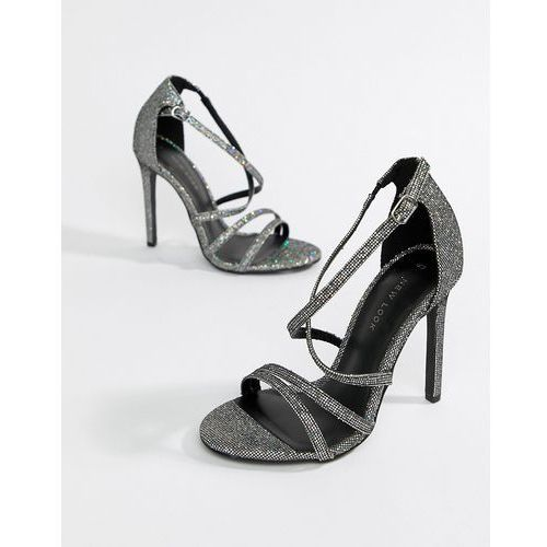 New Look metallic strappy heeled sandals - Silver