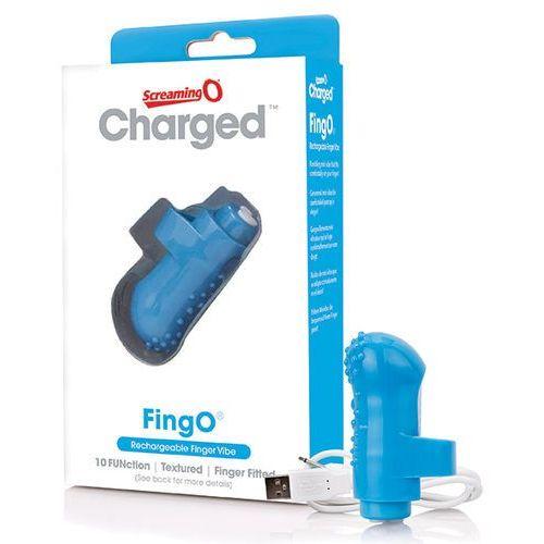 Screaming o Wibrator na palec - the charged fingo finger vibe niebieski