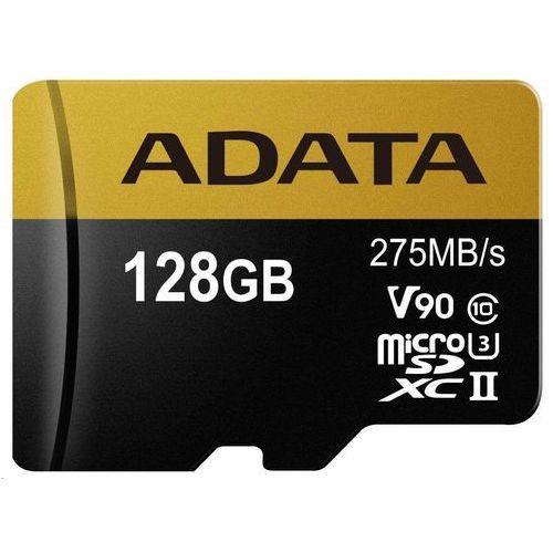 Adata Karta microsd adata microsdxc 128gb class 10 read/write 275/155mbps - ausdx128guii3cl10-ca1 darmowy odbiór w 20 miastach! (4712366968691)