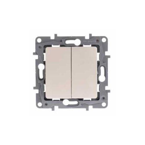 Legrand Łącznik schodowy niloe 764609 podwójny 10ax + przycisk 6a kremowy