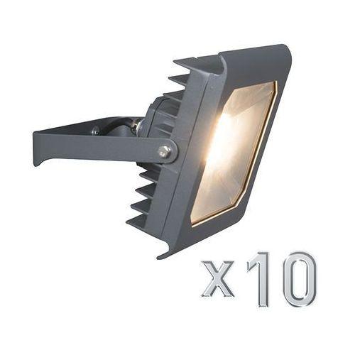Qazqa Led naswietlacz radius 4 50w ciemno szary zestaw 10 sztuk