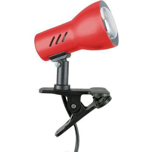 Lampa stołowa lampka klips spot light clamspot 1x60w e27 czerwona 2110106k marki Spotlight