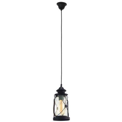 lampa wisząca VINTAGE BRADFORD - 14 cm czarna, EGLO 49213