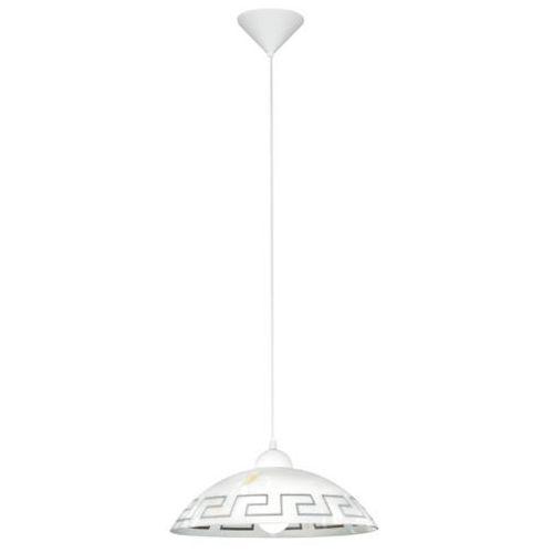 Eglo Lampa wisząca vetro klosz biało - brązowy, 82786