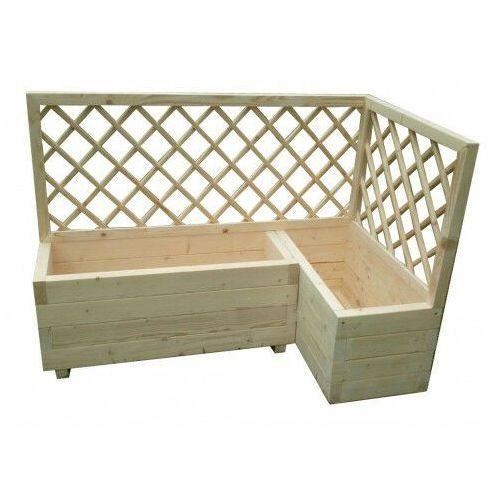 Elior Duża drewniana donica ogrodowa z pergolą - hestra