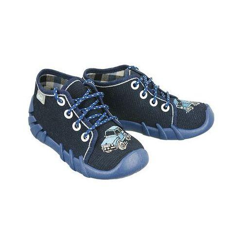 BEFADO 130P 058 granatowy, kapcie dziecięce, rozmiary: 18-23 - Granatowy, kolor niebieski