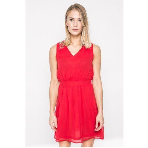 Vero Moda - Sukienka Lollie, kolor czerwony