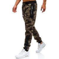 Spodnie męskie dresowe joggery moro zielone denley tc877 marki T&c star