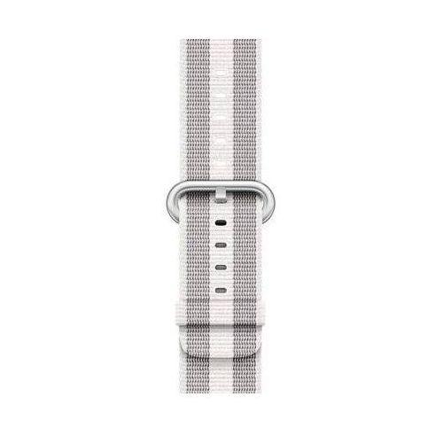 Pasek do smartwatcha APPLE Watch z plecionego nylonu w kolorze białym (w prążki) do koperty 38 mm MQVH2ZM/A (0190198580948)