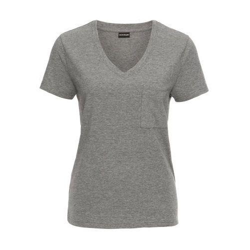 Bonprix Shirt biel wełny z połyskującym nadrukiem