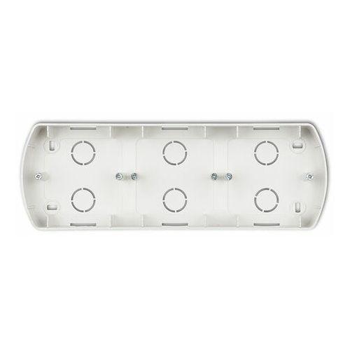 trend srebrny metalik - puszka natynkowa pozioma potrójna - 7pth-3 marki Karlik