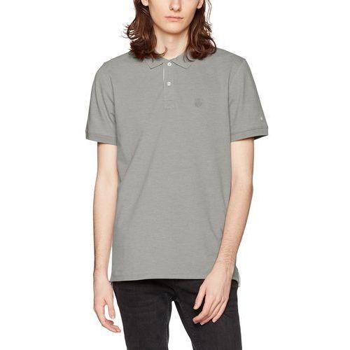 Selected Homme męski T-shirt shharo Melange SS Embroidery Polo noos, kolor: szary, rozmiar: xx-large, 16055304-Wrought Iron