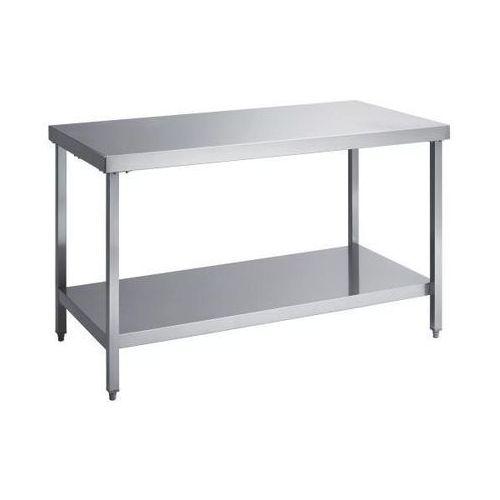 Stół roboczy ze stali szlachetnej, wys. robocza 850 mm, szer. x głęb. 1600x700 m
