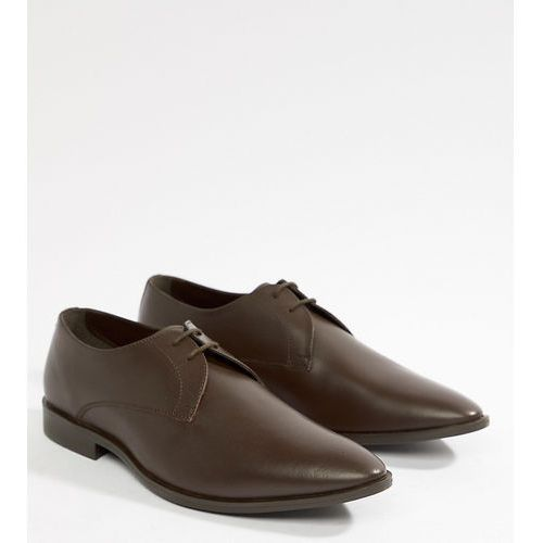 wide fit derby shoes in brown leather - brown marki Frank wright