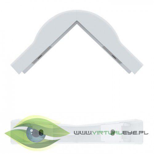 Qoltec Zaślepka na kabel | zewnętrzny narożnik | biały | 76x18mm